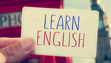 text learn english in a signboard with the Big Ben